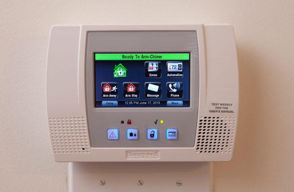 home burglar alarm system panel